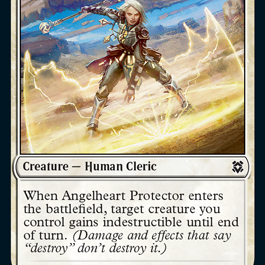Angelheart Protector Zendikar Rising Magic the Gathering card