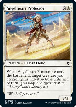 Angelheart Protector Zendikar Rising Magic the Gathering card