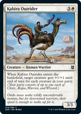 Kabira Outrider Zendikar Rising Magic the Gathering card