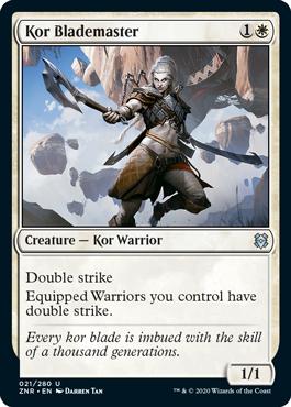 Kor Blademaster Zendikar Rising Magic the Gathering card