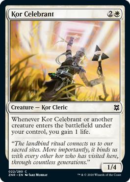 Kor Celebrant Zendikar Rising Magic the Gathering card