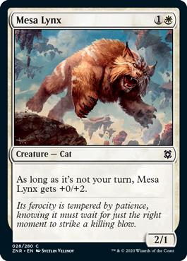 Mesa Lynx Zendikar Rising Magic the Gathering card
