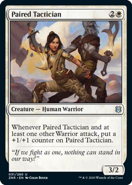 Paired Tactician Zendikar Rising Magic the Gathering card