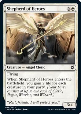 Shepherd of Heroes Zendikar Rising Magic the Gathering card