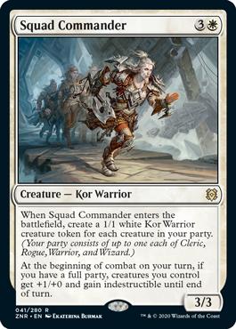 Squad Commander Zendikar Rising Magic the Gathering card